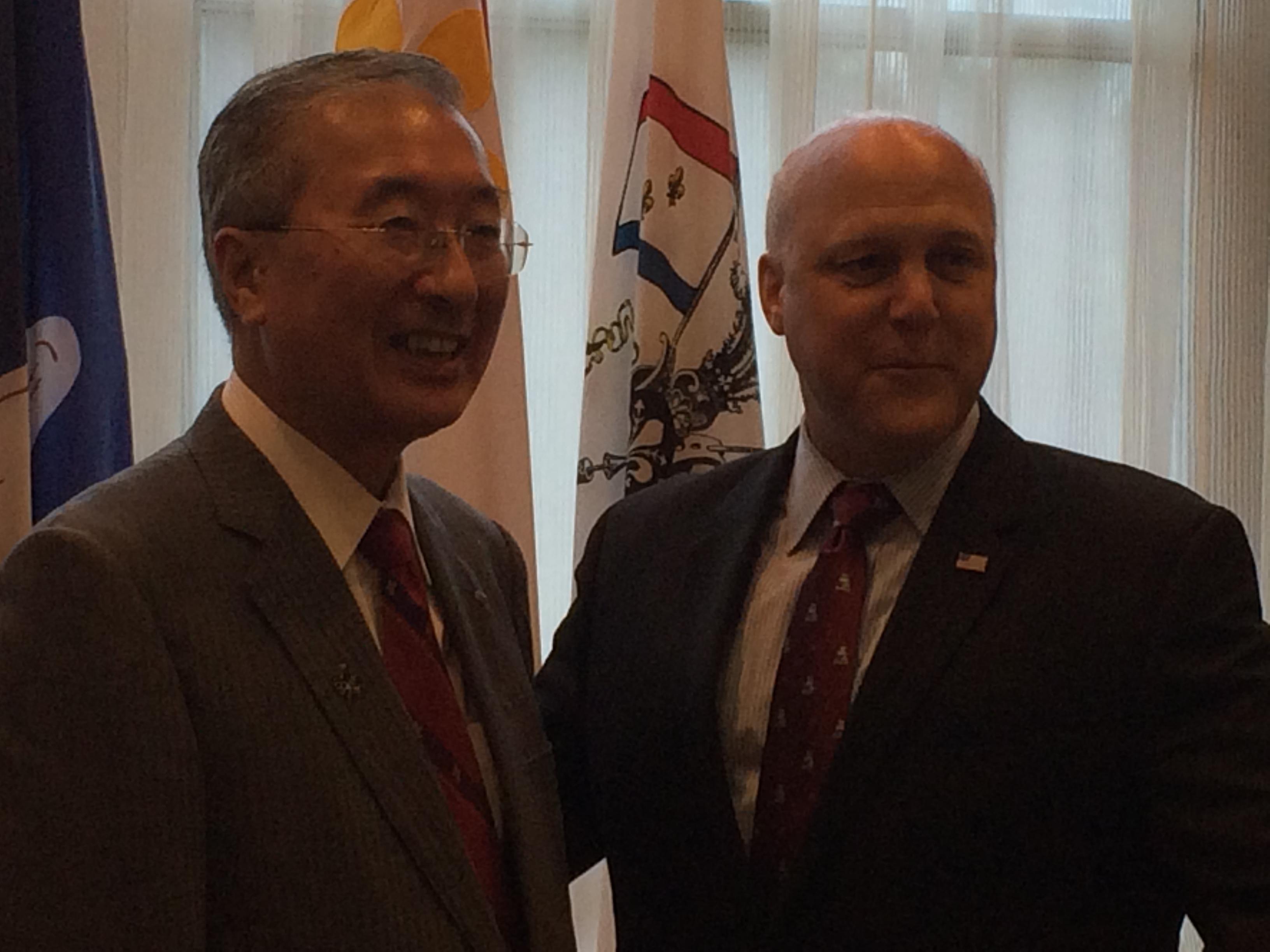 ニューオリンズ市長を表敬訪問