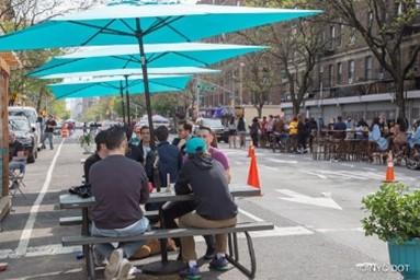 オープンストリートの1つ「Manhattan's Amsterdam Avenue Open Street」(ニューヨーク市HP掲載資料)